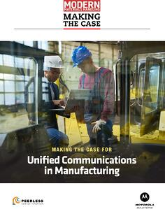 Manufacturing Unified Communications
