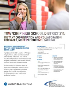 School Dist 214 Case Study Page Photo